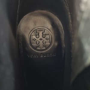 Tory Burch Shoes - Tory Burch Leigh Patent Leather Croc Embossed Boot